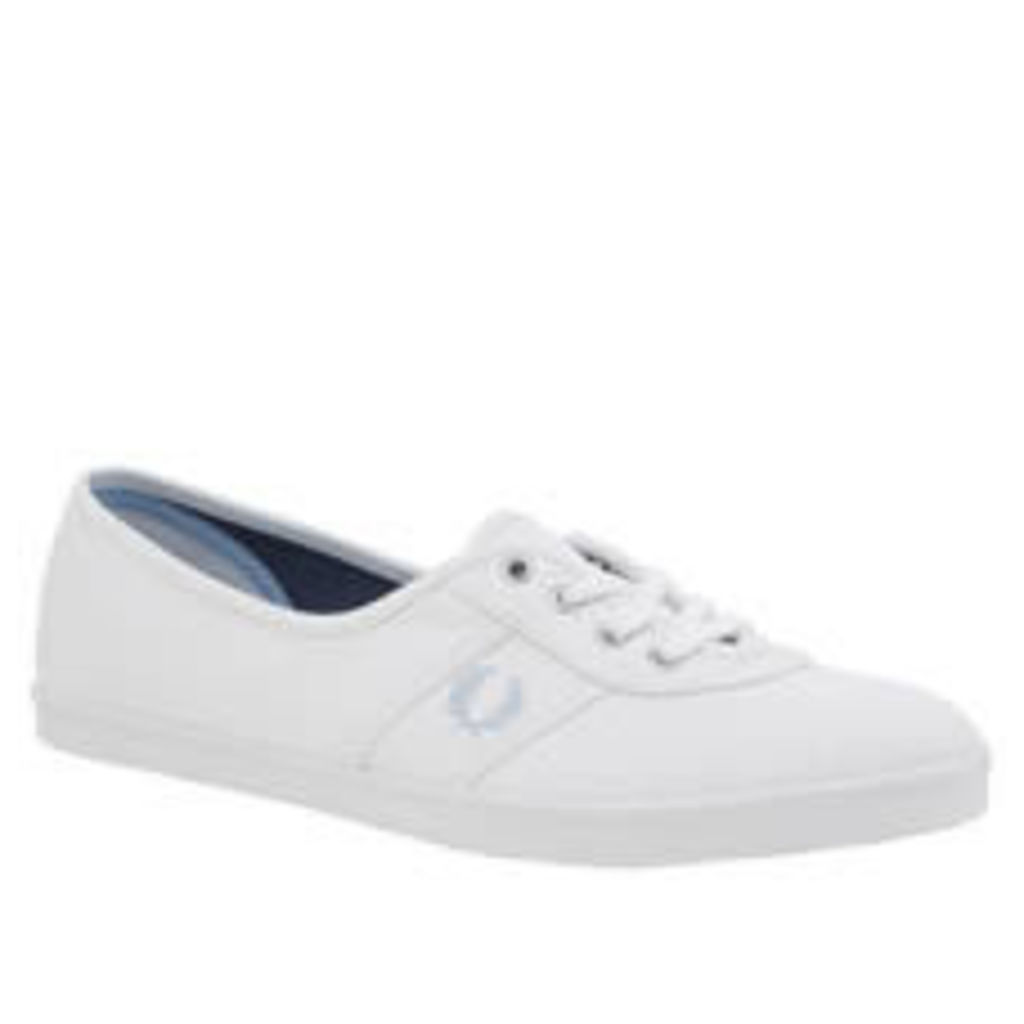 Fred Perry White & Pl Blue Aubrey Womens Trainers