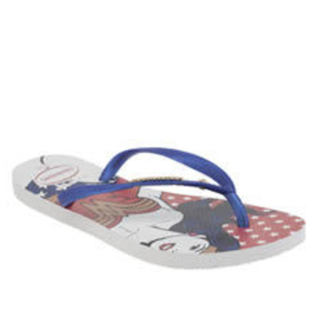 Havaianas Navy & Red Slim Wonder Woman Womens Sandals