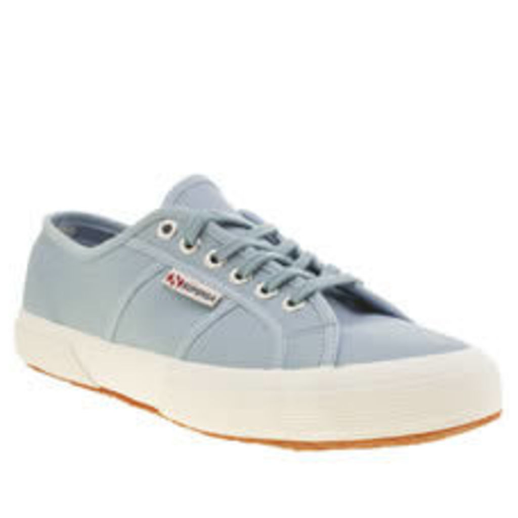 Superga Pale Blue 2750 Leather Womens Trainers