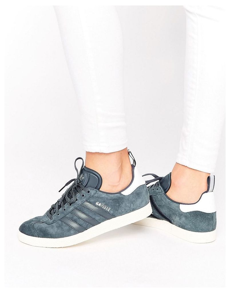 adidas Originals Navy Suede Ponyskin Trainers - Utility blue