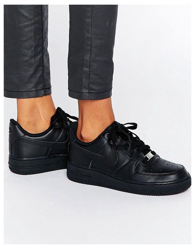 Nike Air Force 1 '07 Trainers In Black - Black/black