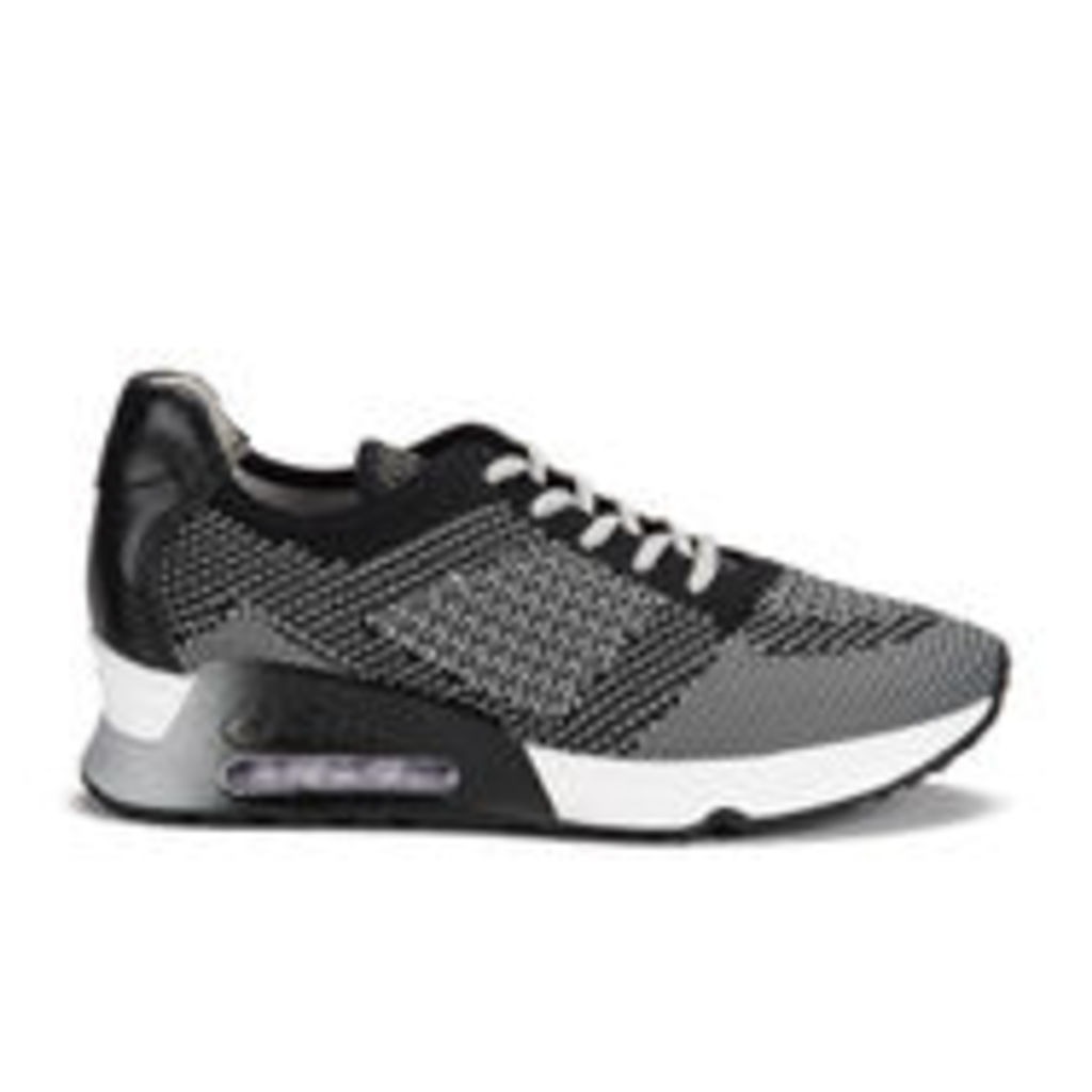 Ash Women's Lucky Knit/Nappa Wax Runner Trainers - Army/Black - UK 3