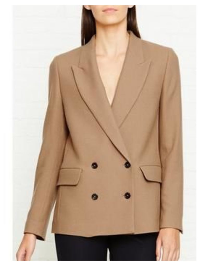 Ps By Paul Smith Double Breasted Jacket - Camel