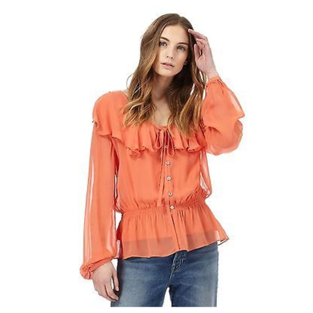 Nine By Savannah Miller Womens Orange Ruffle Top From Debenhams