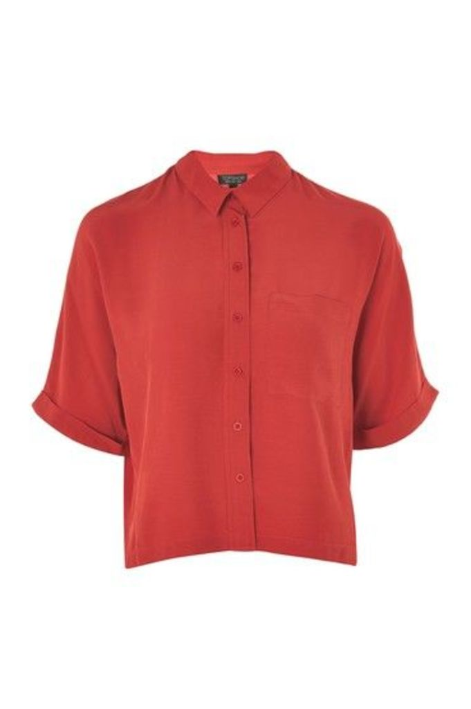 Womens Short Sleeve Shirt - Brick, Brick