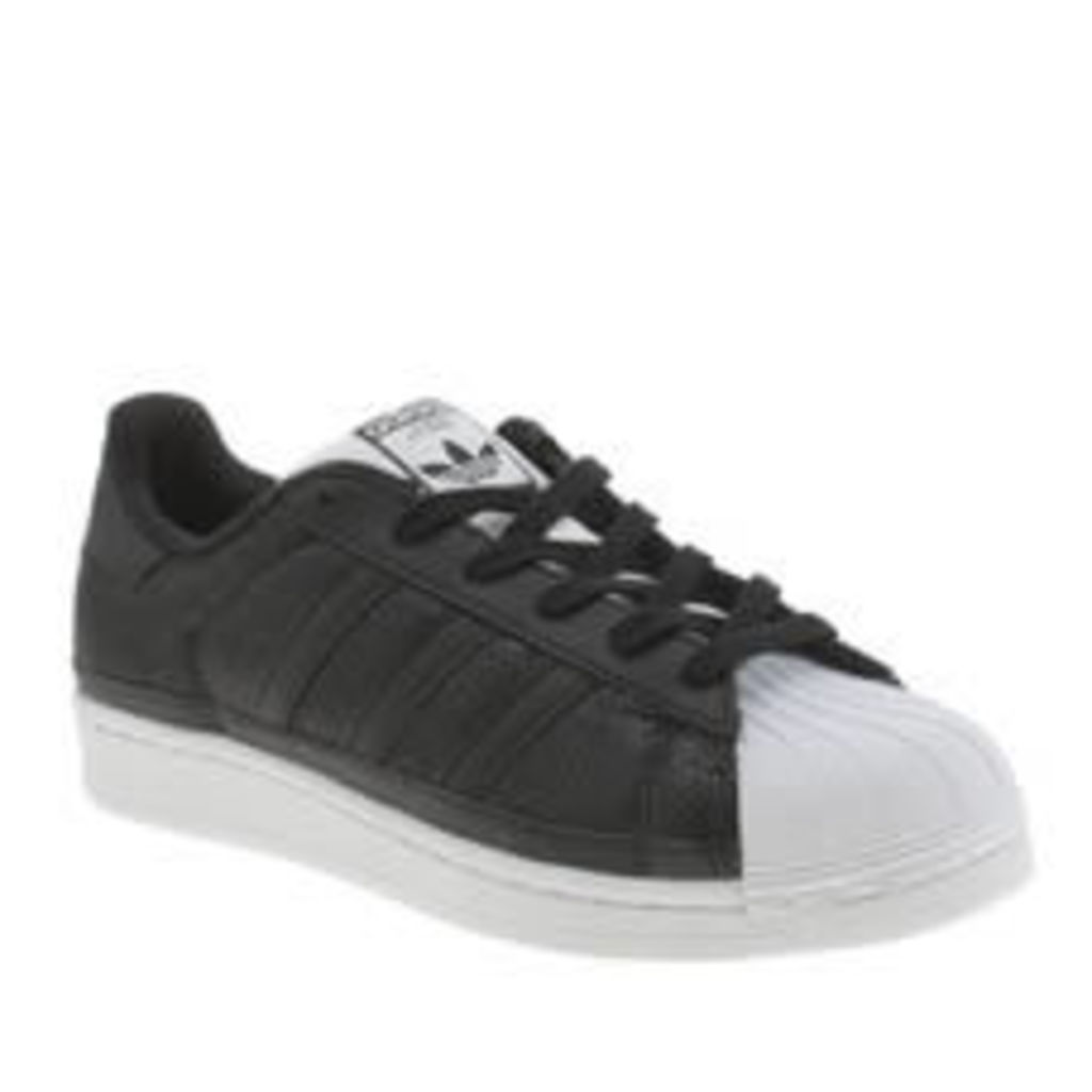 Adidas Black & White Superstar Sequins Womens Trainers