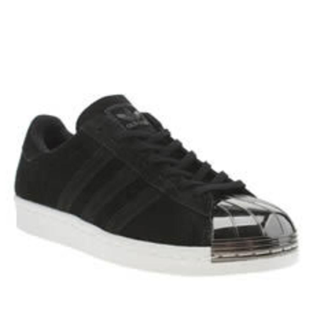 Adidas Black & White Superstar 80s Metal Toe Womens Trainers