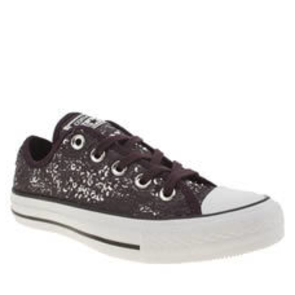 Converse Purple All Star Distressed Sequins Ox Womens Trainers