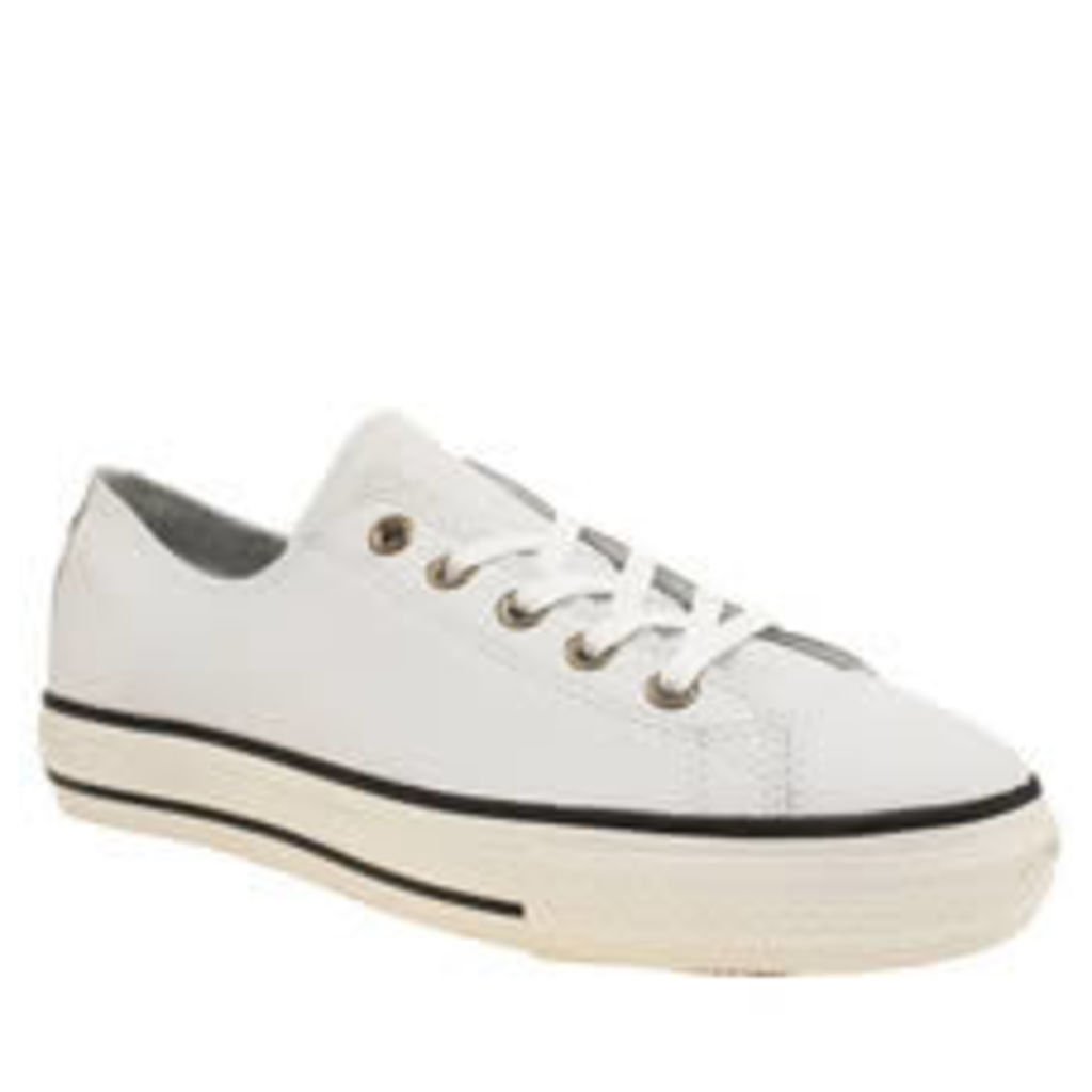 Converse White & Black High Line Craft Lea Ox Womens Trainers