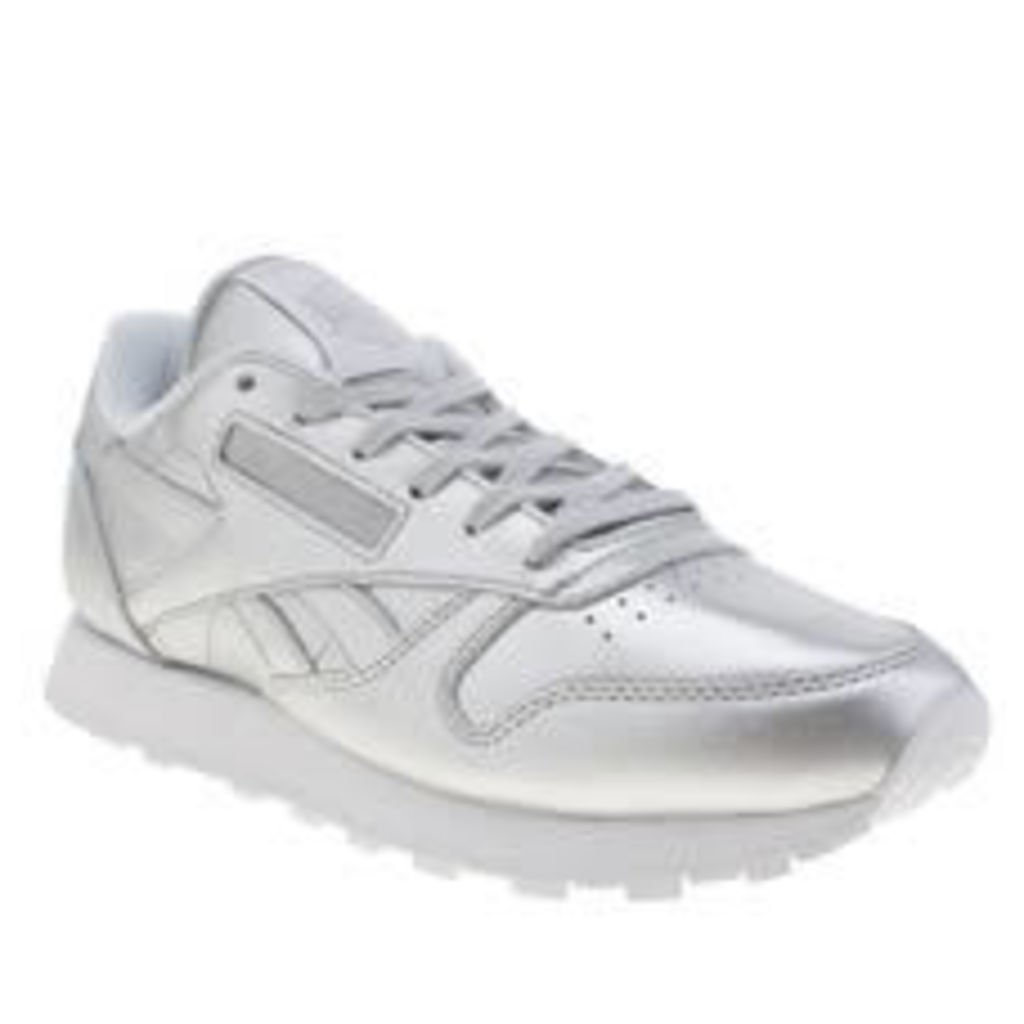 Reebok Silver Classic Leather Spirit Womens Trainers