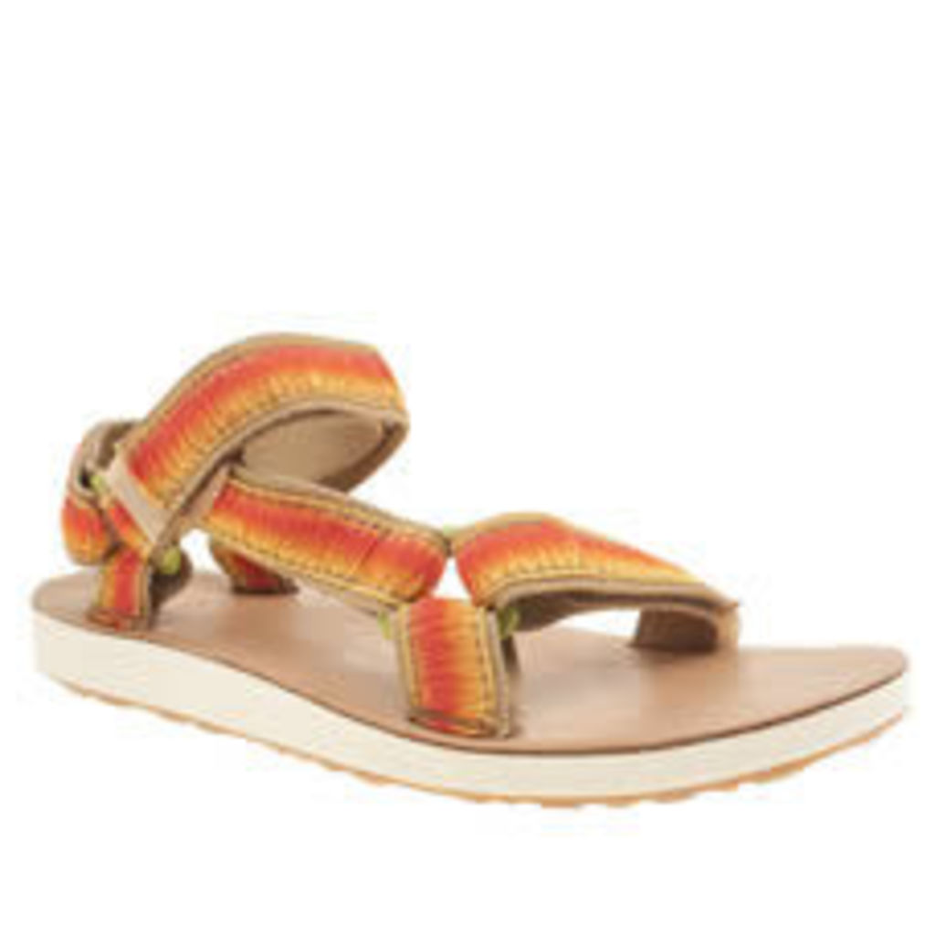 Teva Beige & Orange Original Universal Ombre Womens Sandals