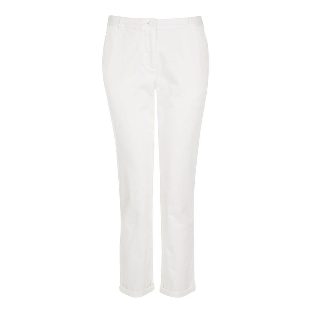 Cropped Turn Up Chino Trousers