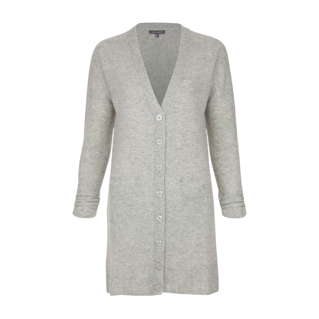 Longline Wool and Linen Cardigan