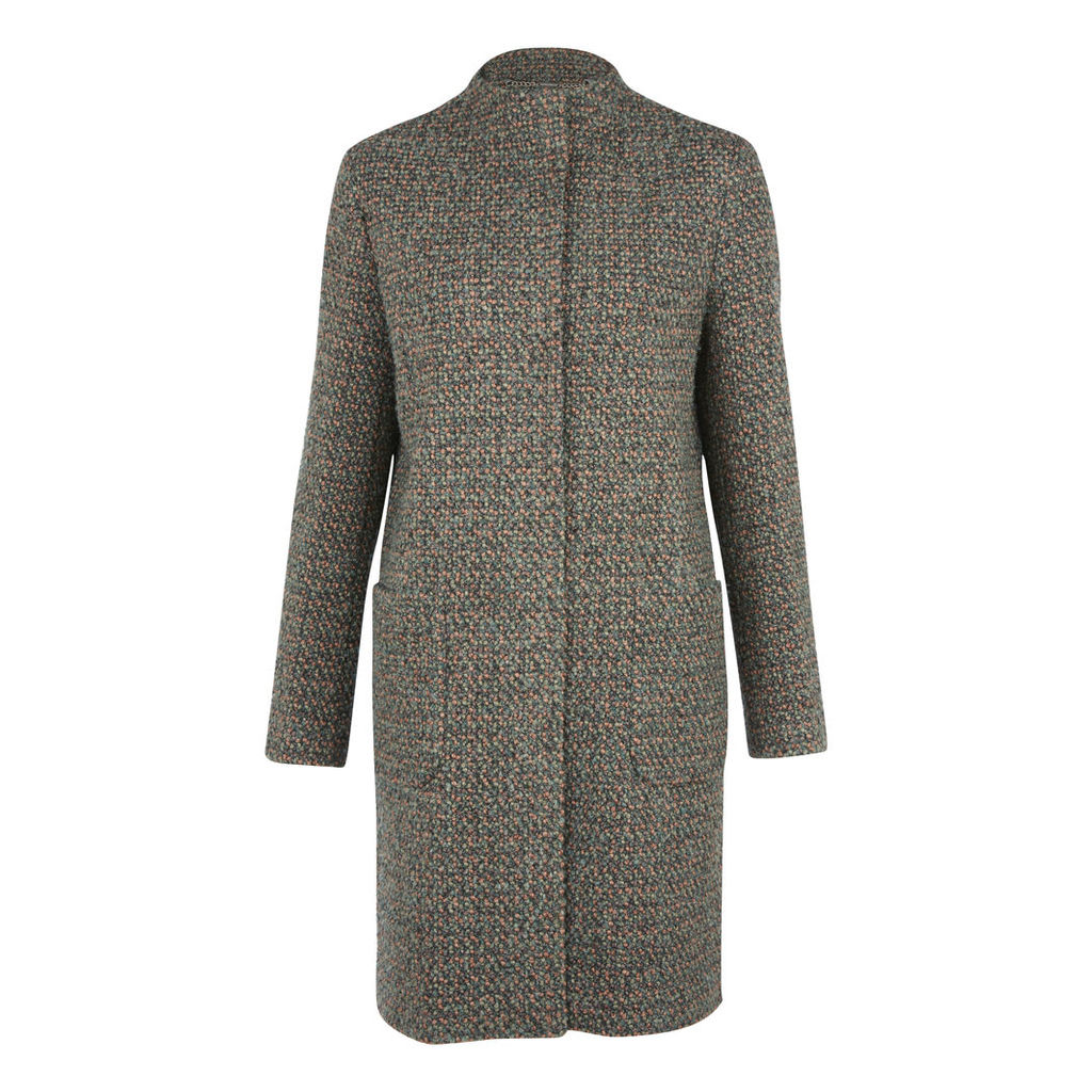 Boucle Collarless Coat
