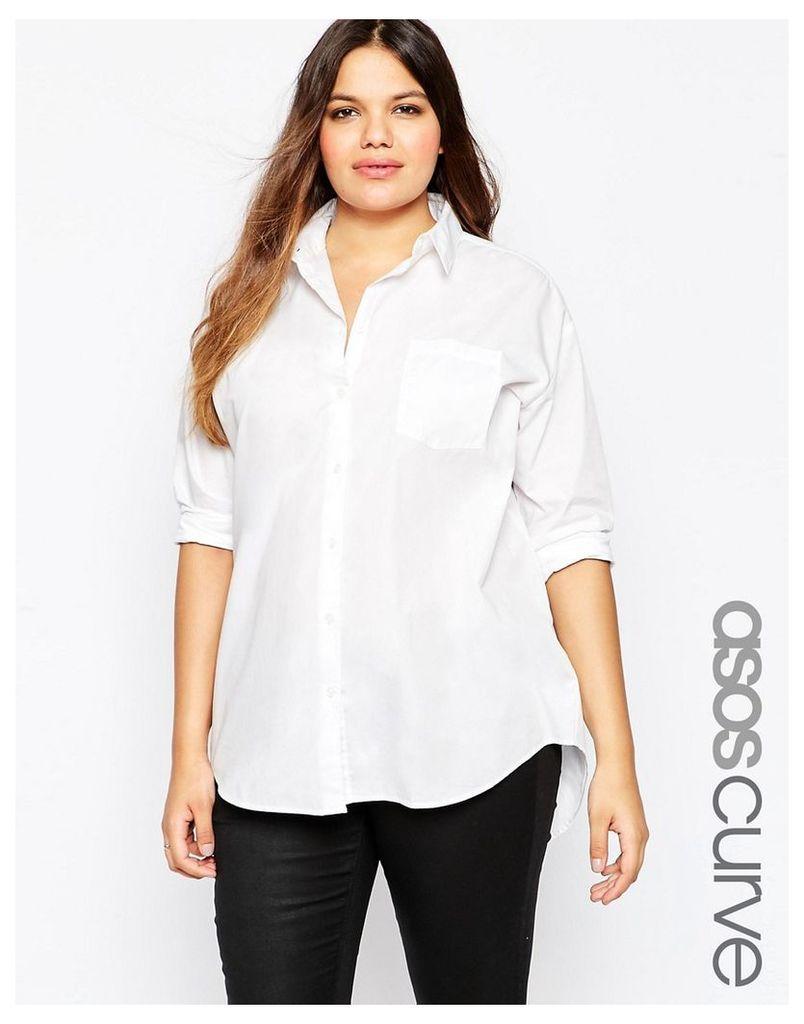 ASOS CURVE Boyfriend Shirt - White