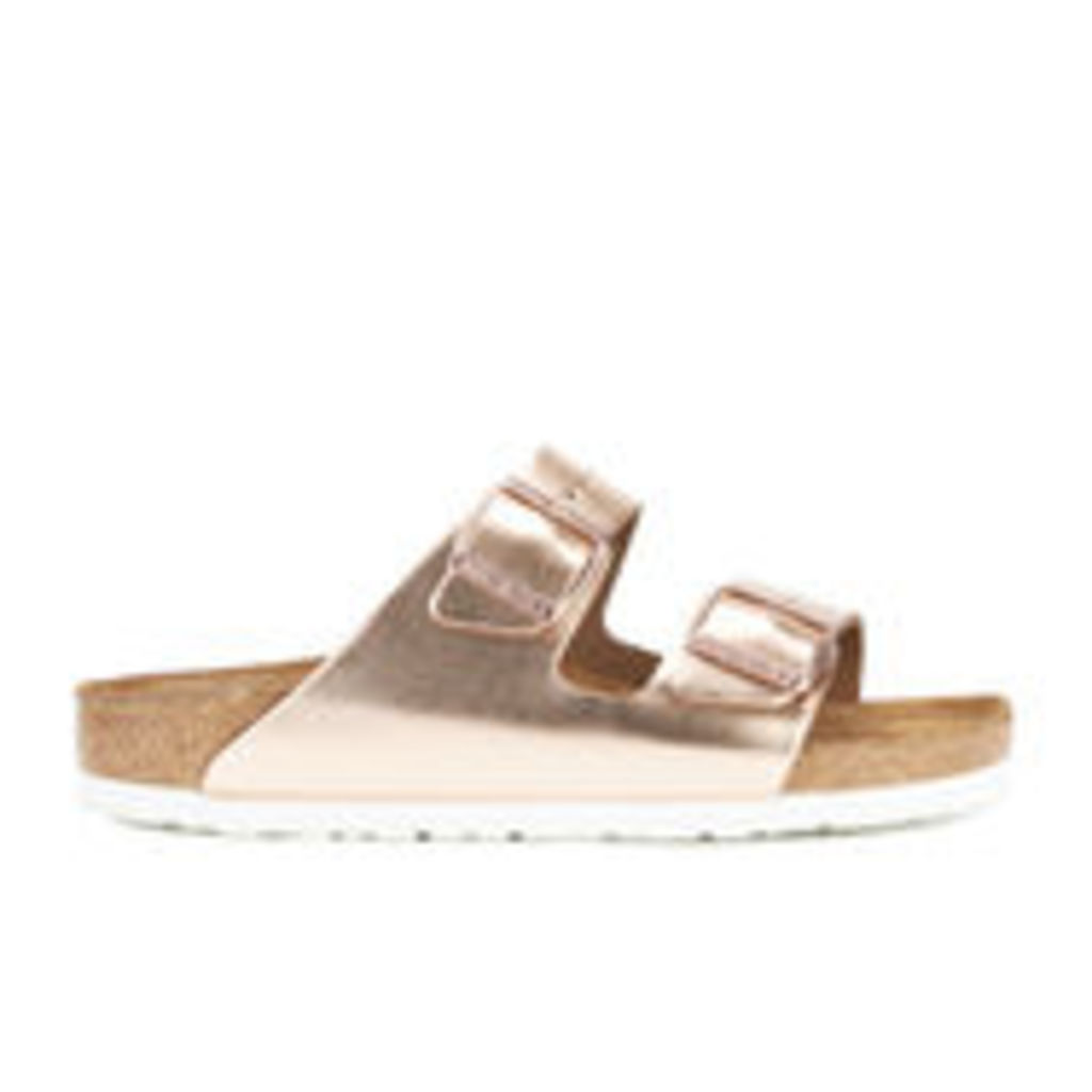 Birkenstock Women's Arizona Leather Slim Fit Double Strap Sandals - Metallic Copper - UK 5