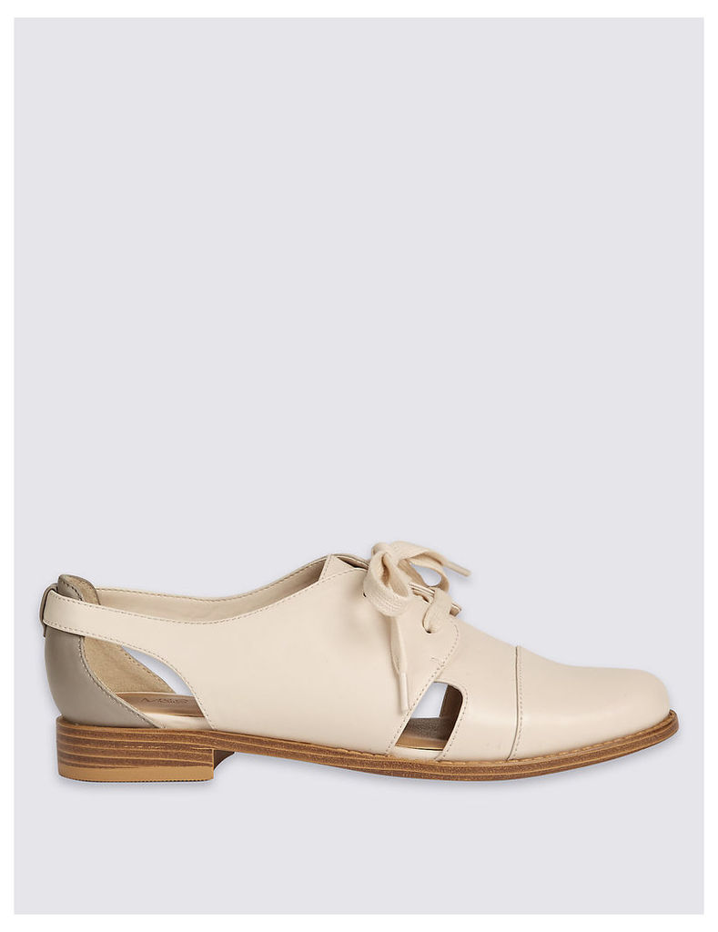 M&S Collection Block Heel Cut Out Brogue Shoes