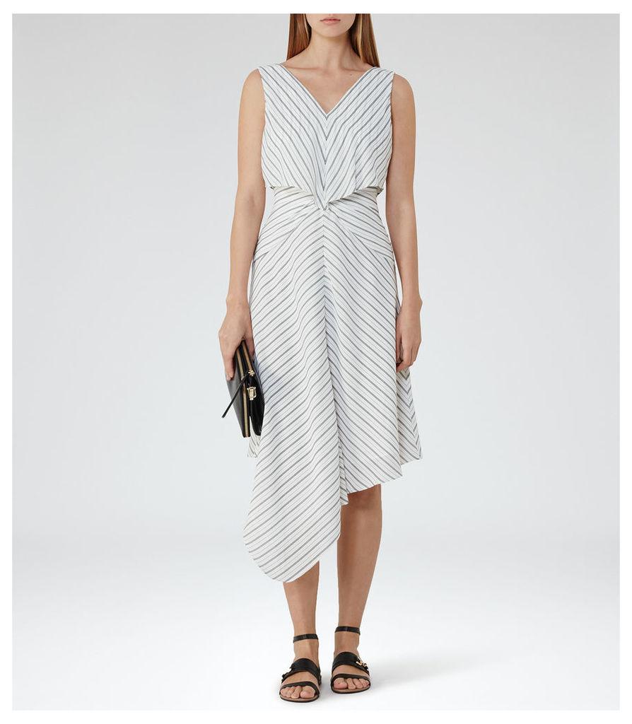 REISS Rhoni - Womens Handkerchief Hem Skirt in White