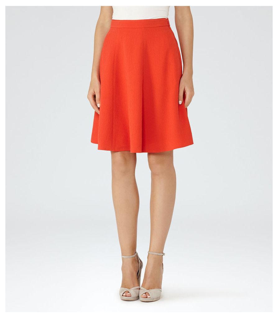 REISS Hannah - Womens A-line Mini Skirt in Red