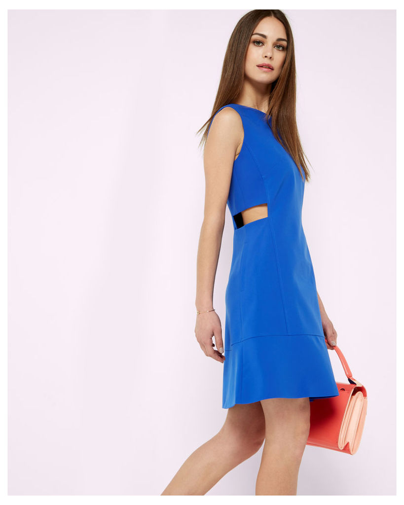 Ted Baker Cut-out tunic dress Bright Blue