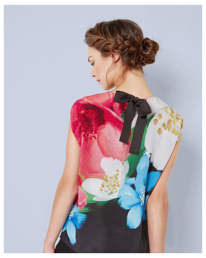 Ted Baker Forget Me Not silk top Black