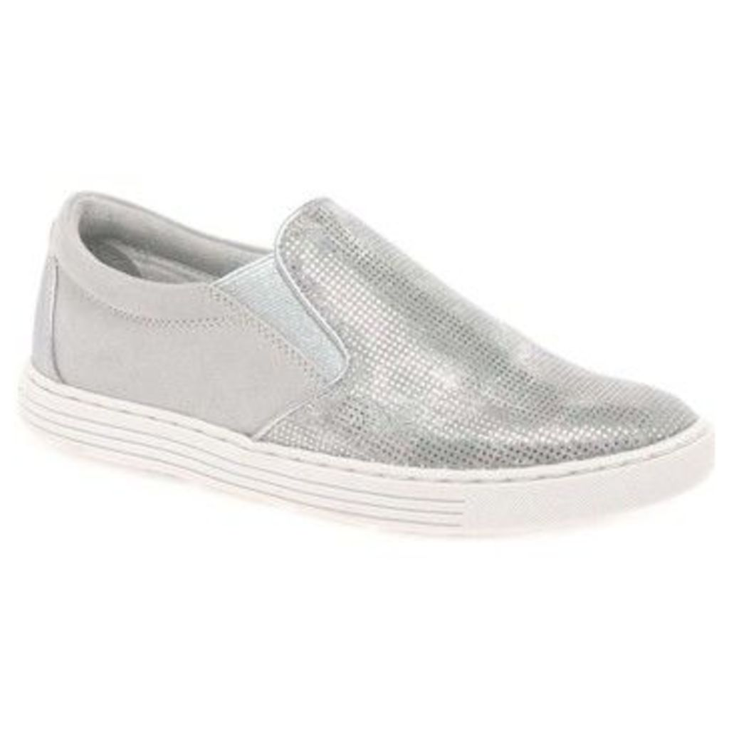 Marco Tozzi  Adamson Womens Casual Lace Up Trainers  women's Slip-ons (Shoes) in Silver