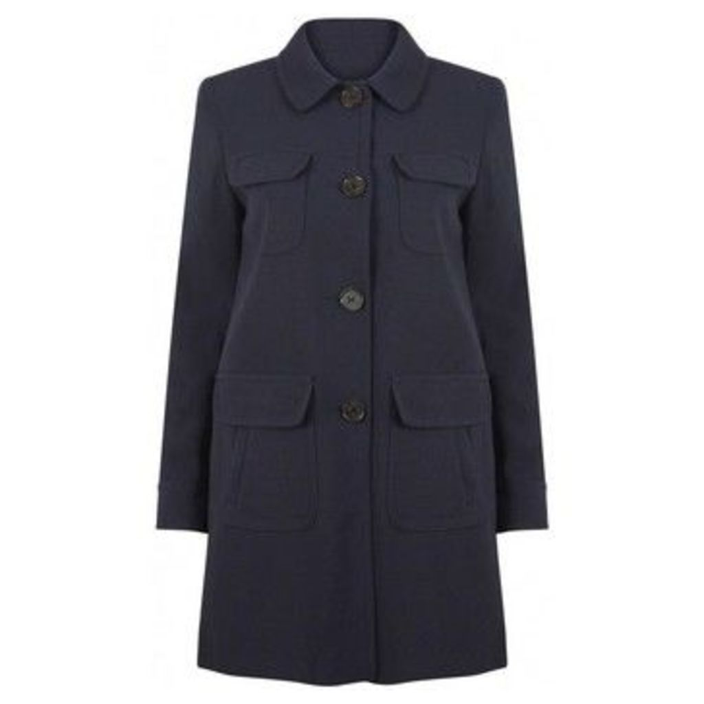 Anastasia  -Womens Navy Blue Spring Fashion Coat  women's Coat in Blue