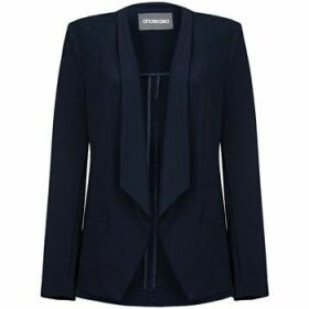 Anastasia  -Womens Navy Unlined Waterfall Blazer  women's Jacket in Blue