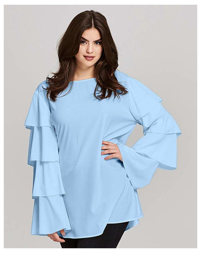 AX Paris Layered Sleeve Blouse