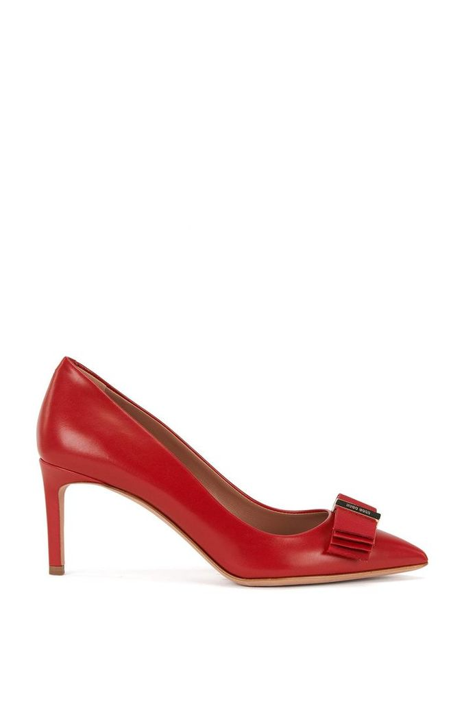 Leather pumps with decorative bow: `Wave Pumps 70-N`