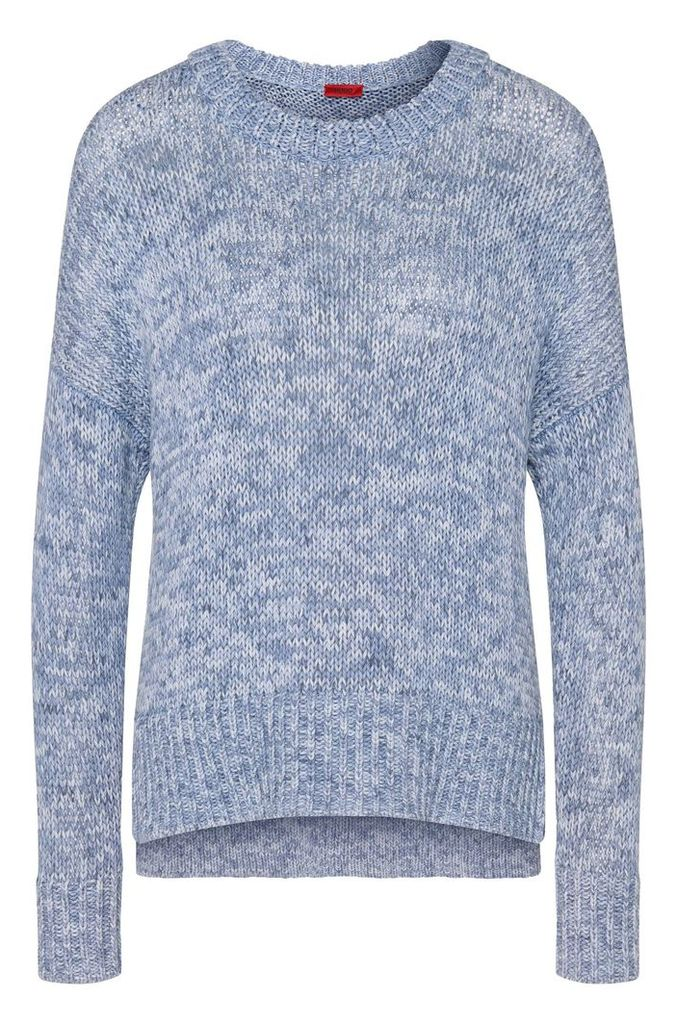 Mottled sweater in pure cotton: `Sheilah`