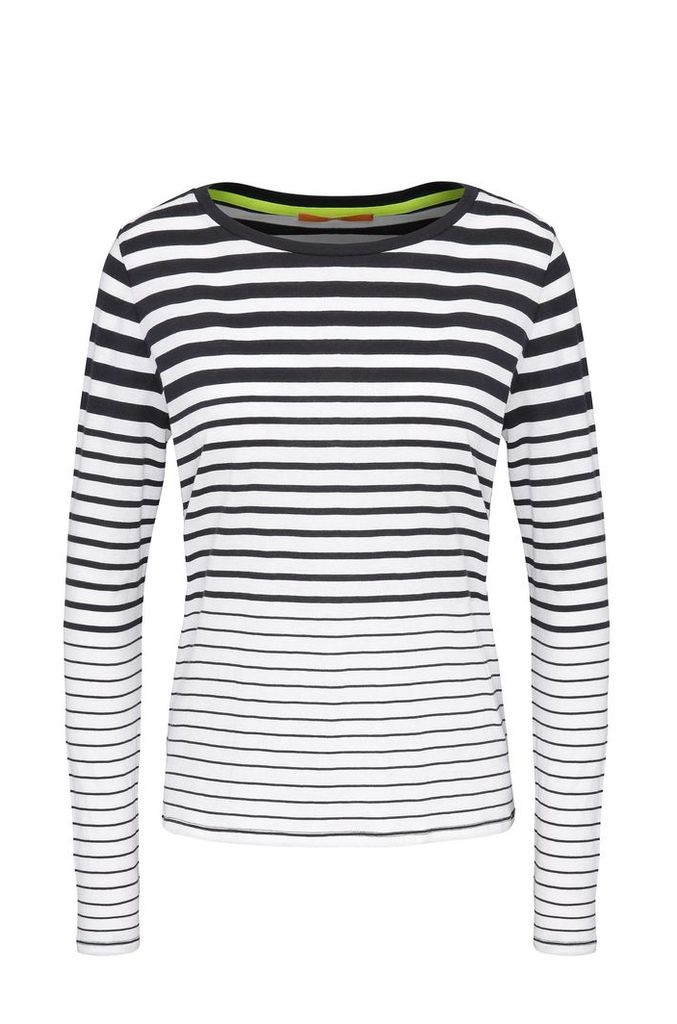 Striped slim-fit long-sleeved shirt in cotton: `Tasquare`