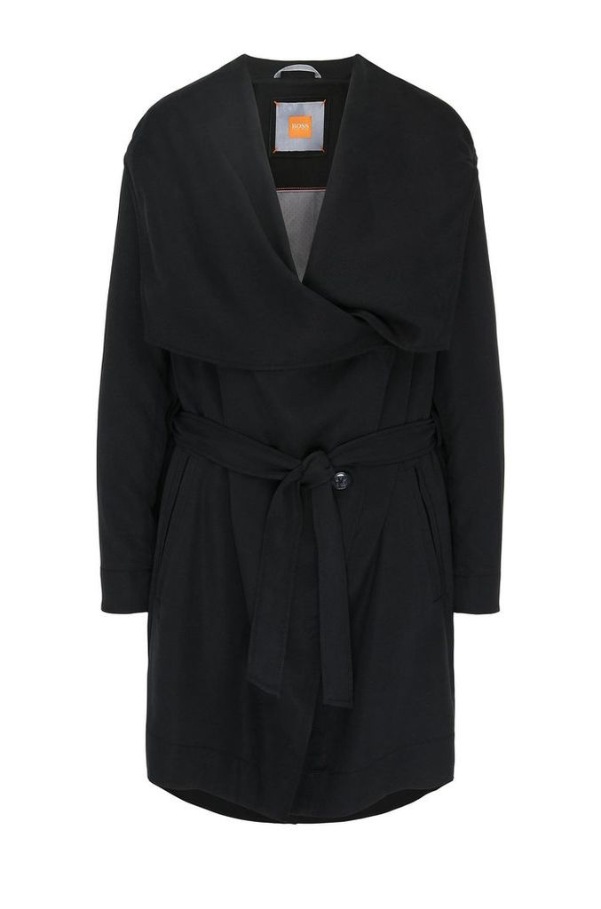 Hooded parka in fabric blend: `Osuvi`
