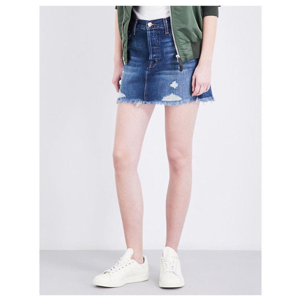 Bonny distressed denim mini skirt