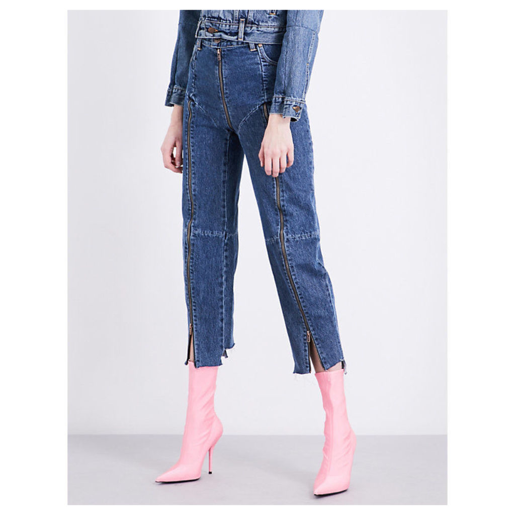 Levi's Rework zip-detailed straight high-rise jeans
