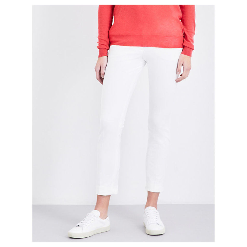 Finley slim-fit cropped stretch-gabardine trousers