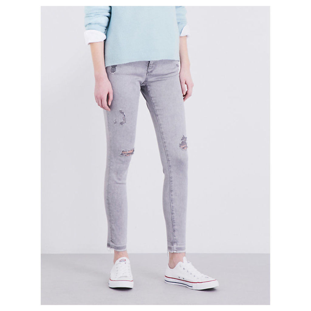 The Legging Ankle distressed super-skinny low-rise jeans