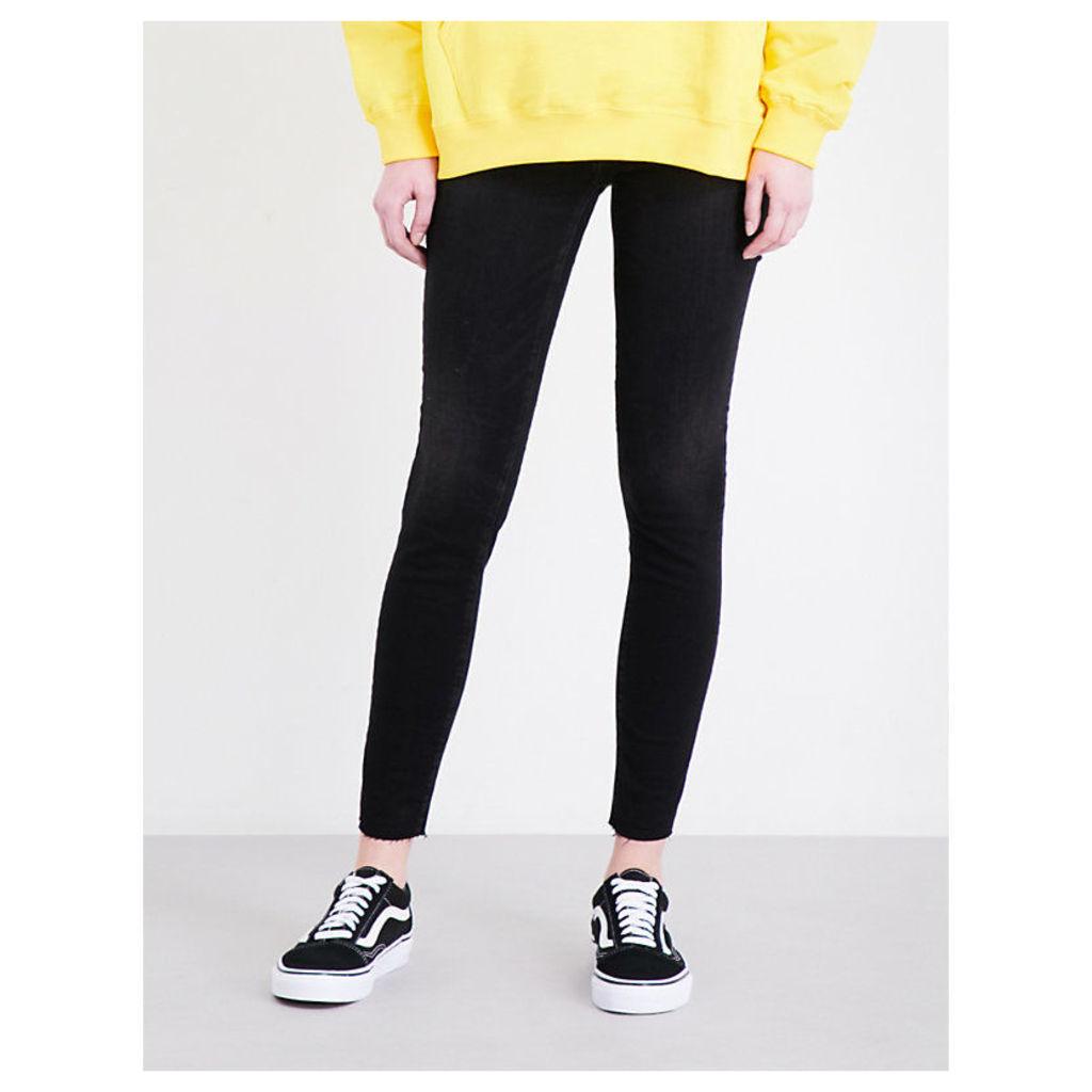 The Legging Ankle frayed-hem super-skinny high-rise jeans