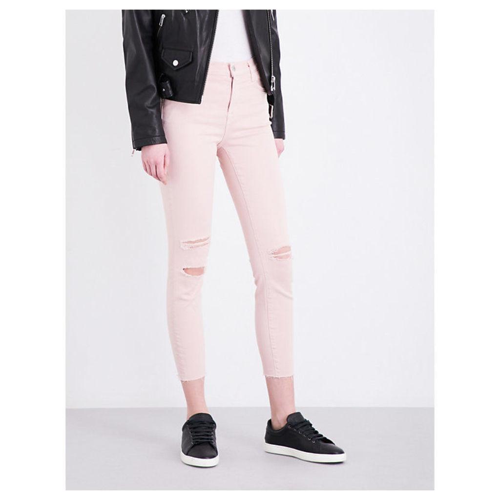 Alana distressed skinny high-rise jeans