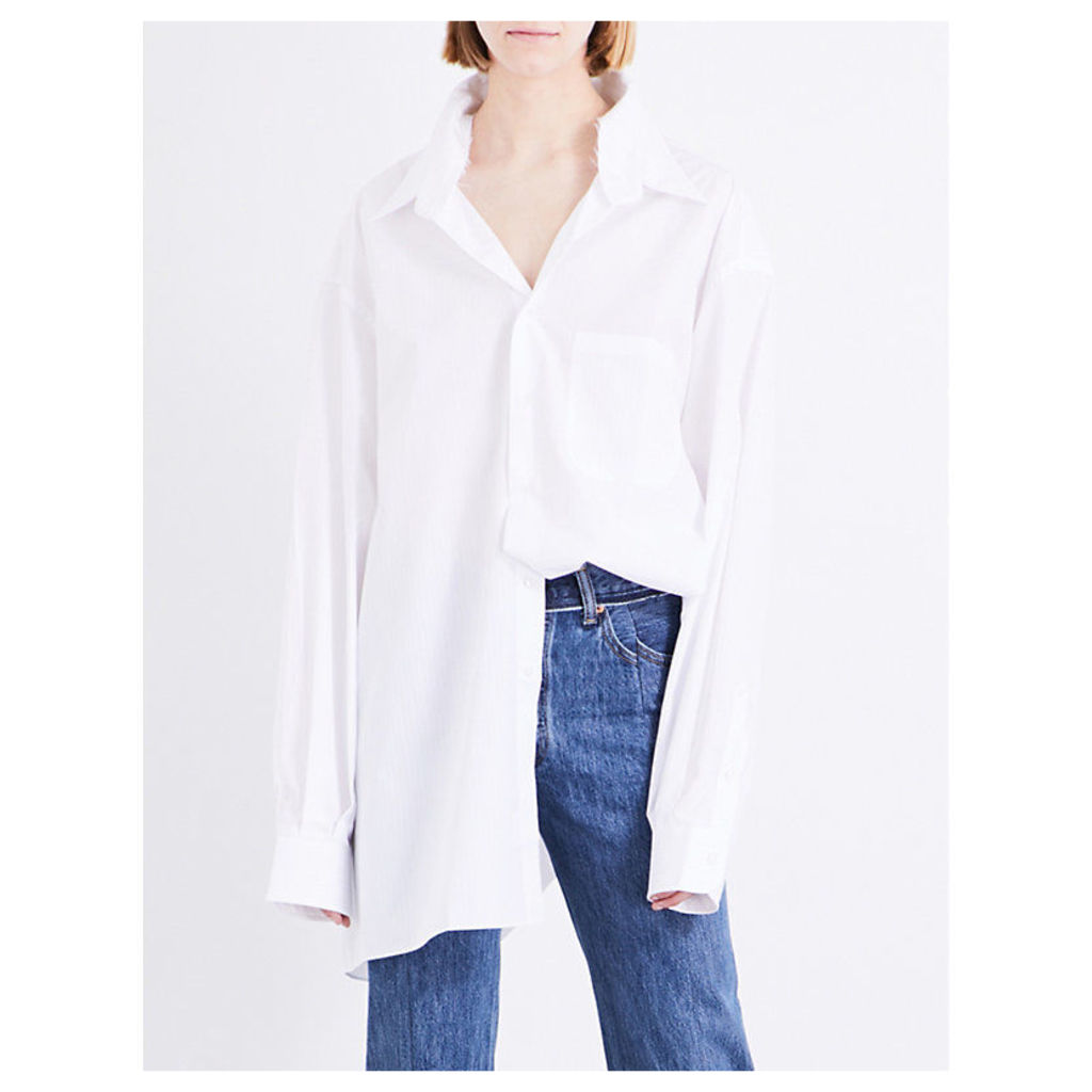 Brioni oversized cotton-poplin shirt