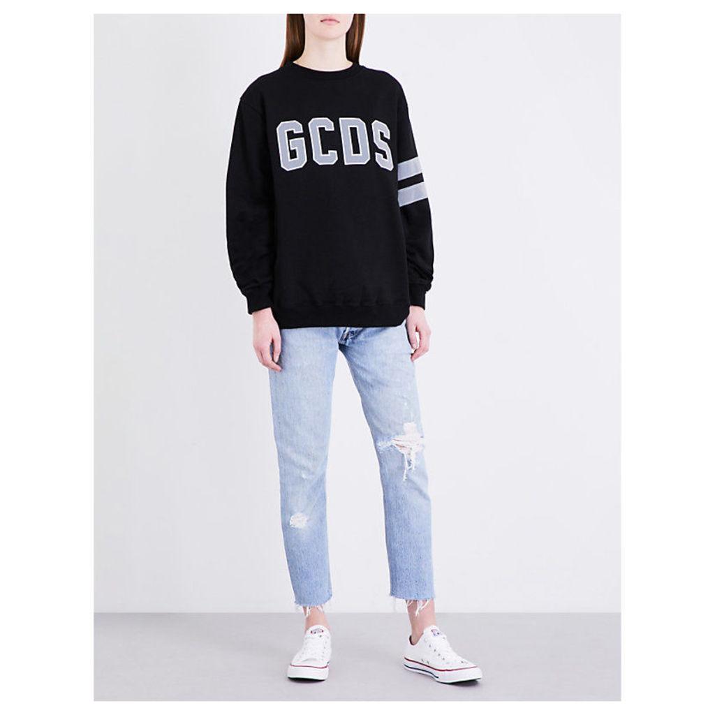 Brand-logo cotton jumper