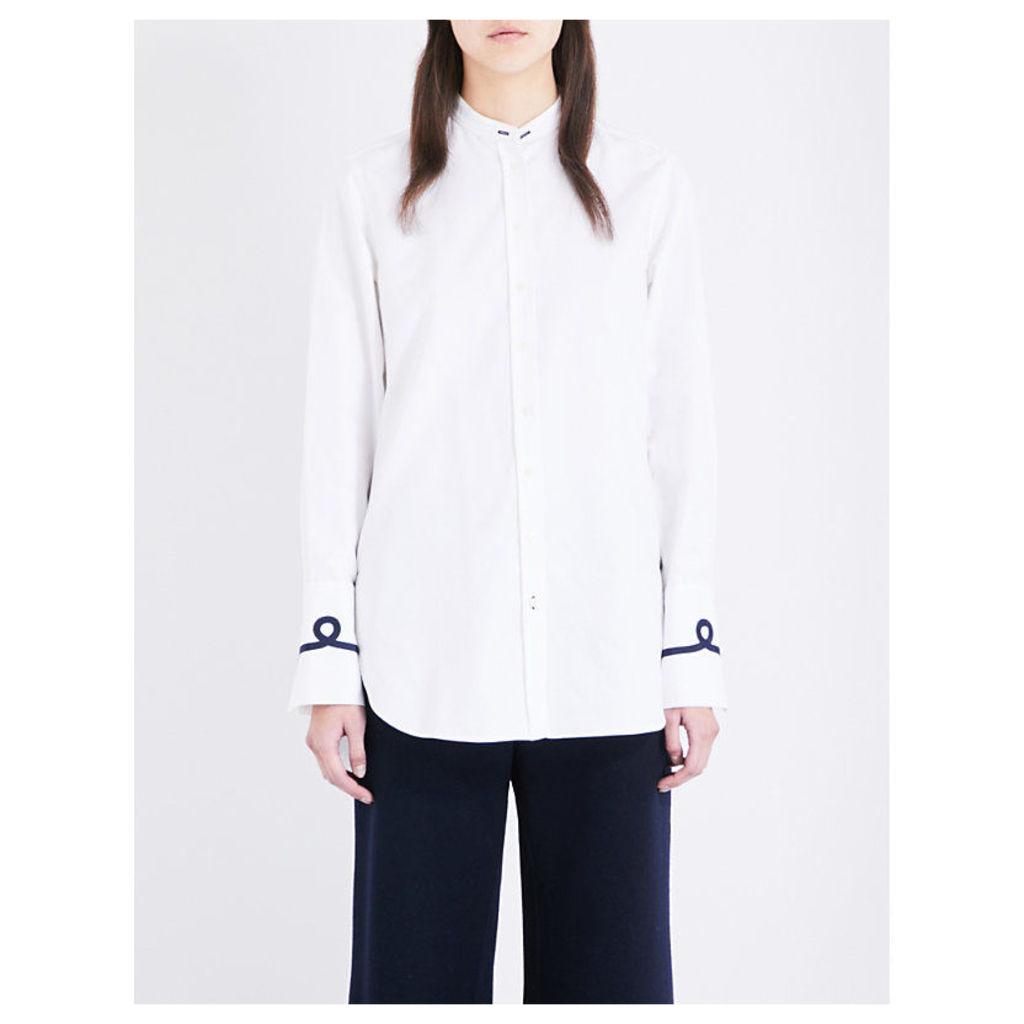Emile oversized cotton-poplin shirt