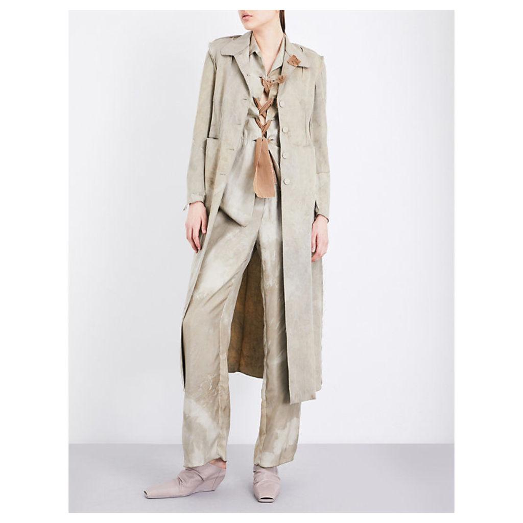 Unlined stretch-wool coat