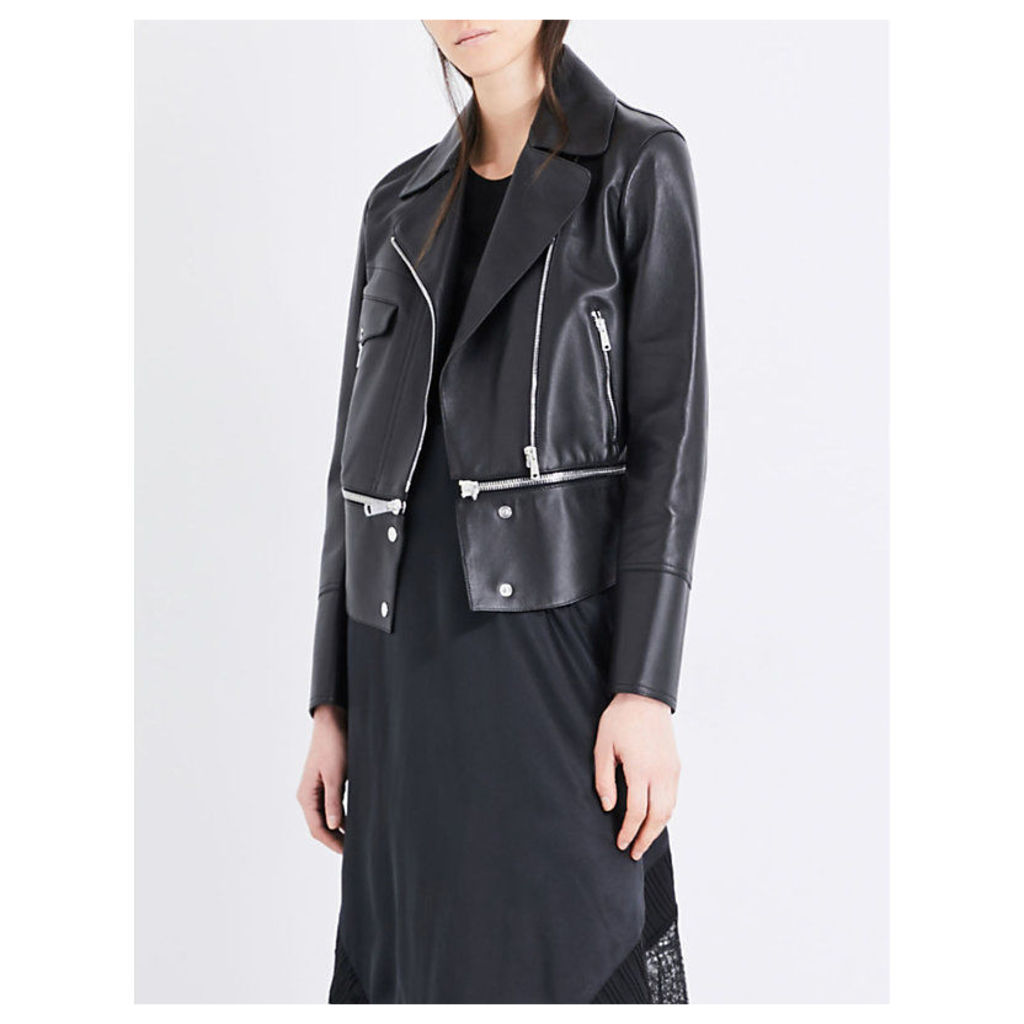 Avenhan leather biker jacket