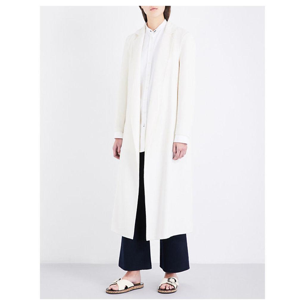 Notch-lapel wool and cashmere-blend coat