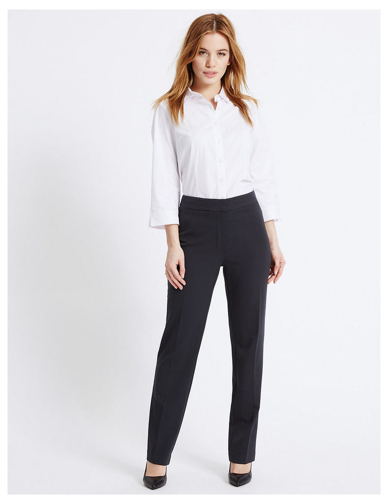 M&S Collection PETITE Angle Seam Slim Leg Trousers
