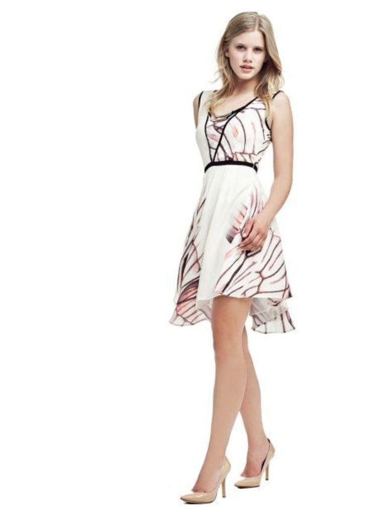 Marciano Guess Marciano High-Low Hem Print Dress