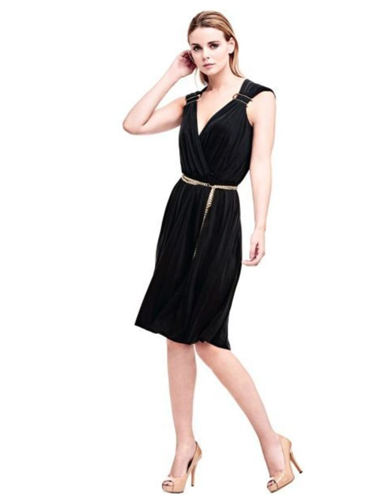 Marciano Guess Marciano Dress With Metal Belt