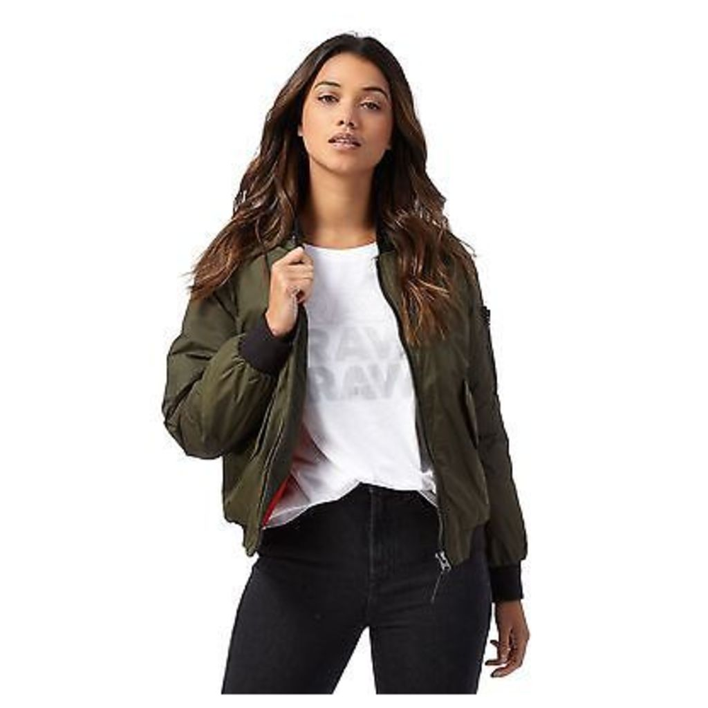 G-Star Raw Womens Khaki Bomber Jacket From Debenhams