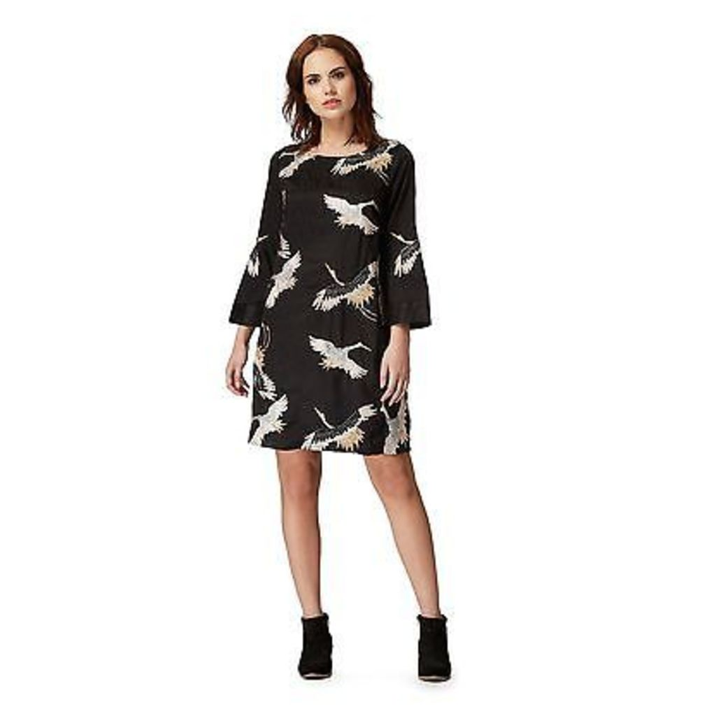 Nine By Savannah Miller Womens Black Crane Embroidery Tunic Dress From Debenhams